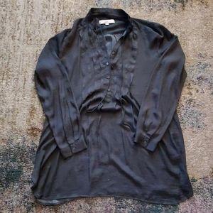 Beautiful dark Gray rayon long sleeve dress shirt